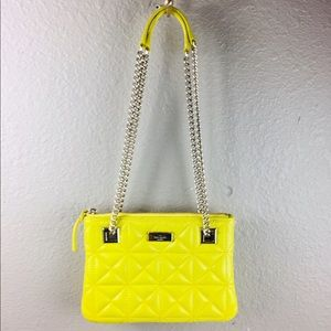 Kate spade yellow cross body quilted